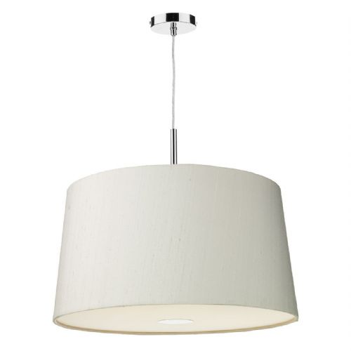 Naseby 60cm Pendant Light Chrome with Shade (choose colour) NAS60 (Hand made, 10-14 day Del)